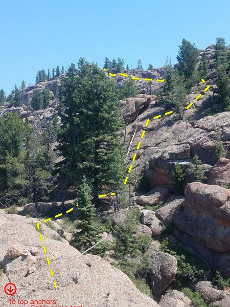 The topout. I wanted to share this, as it is possible to scramble over and visit the fire lookout!