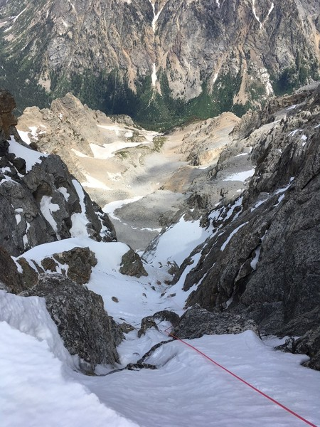 Looking down P3 from the Upper Saddle (July 4th, 2018)