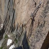 The top rappel for the Chasm View raps. 3 raps with double ropes to Broadway Ledge.