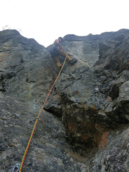 Juggy and slightly overhanging face move on pitch 7