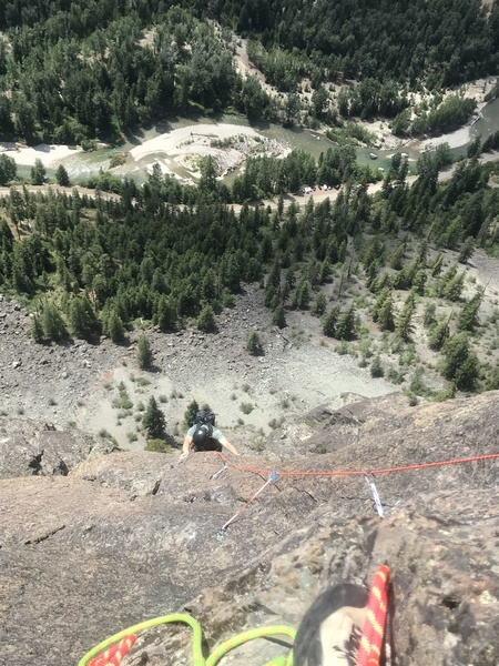 Nice exposure, looking down from the top of pitch 10