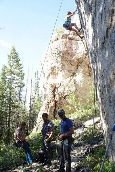 Early ascents at the Wapiti Wall (July 2018).