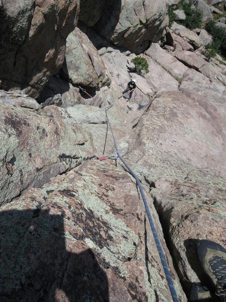 View down P2.