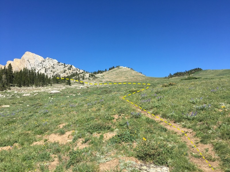 Approach to the next basin follows dashed line.