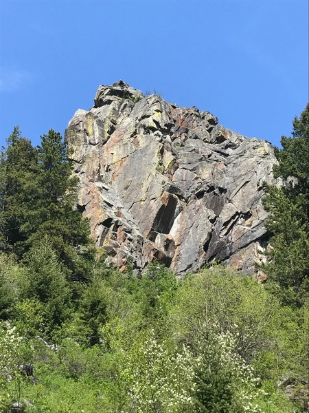 SW face of Practice Rock.