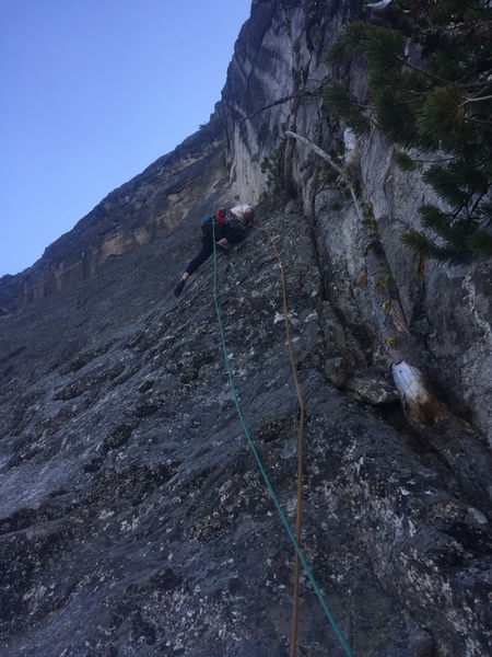 Pitch two, below the aid ladder