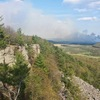 One of the coolest photos I've taken at DL. Prescribed burn in the Sauk Prairie Recreation Area viewed from the East Rampart on a perfect afternoon for climbing. May 18th, 2014.