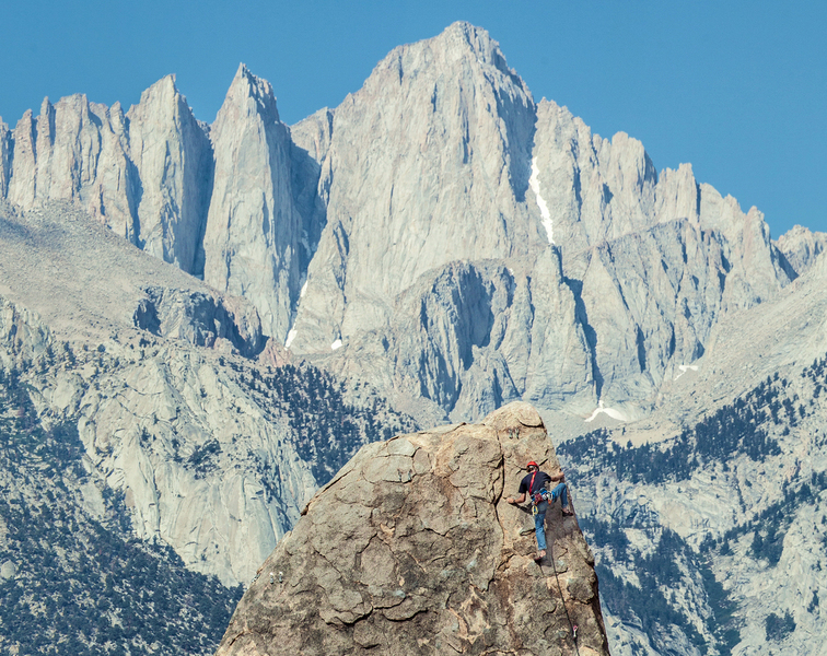 About as epic of a shot possible for a short 5.7 sport route. The longer the lens, the closer and bigger they get!