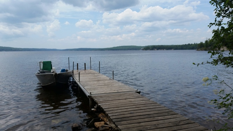 The dock at the ACC campground/hut