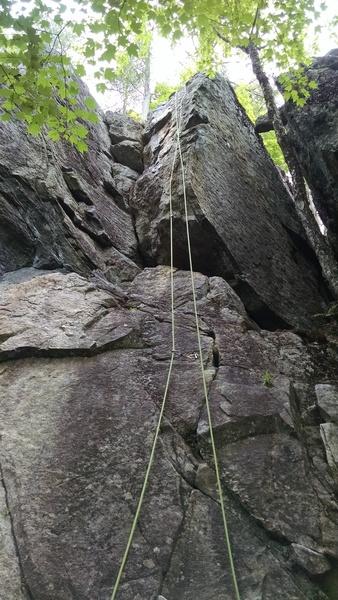Rope hanging on Ian's Arete