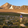 Hiking across the Dana Plateau while approaching the Third Pillar