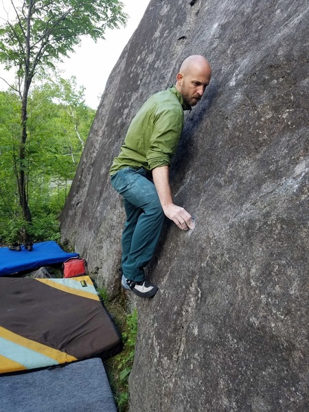 Slab climbing = keep the weight as far into the wall as possible...