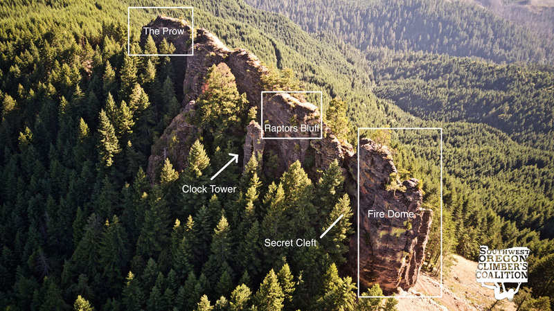 South Comb and its different climbing areas