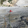 michael steck-white reaching a welcome respite (drilling stance for the 3rd bolt) from sustained smearing/edging on P3