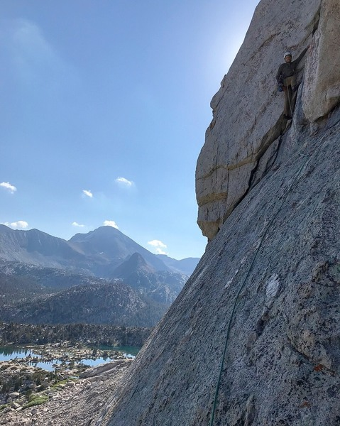 "the ""leftward traverse"" that gets you onto the proper North Buttress."