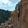 David getting some Crack Practice (V0), Keller Peak