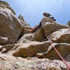 Belay at the top at the top of pitch 6!