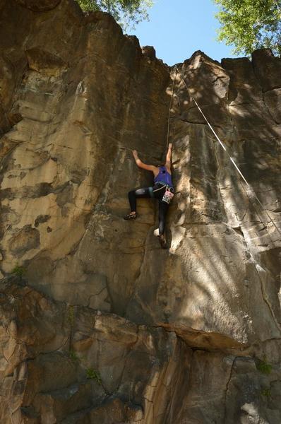 Climber on #9 5.9 Ross Park Shady Side