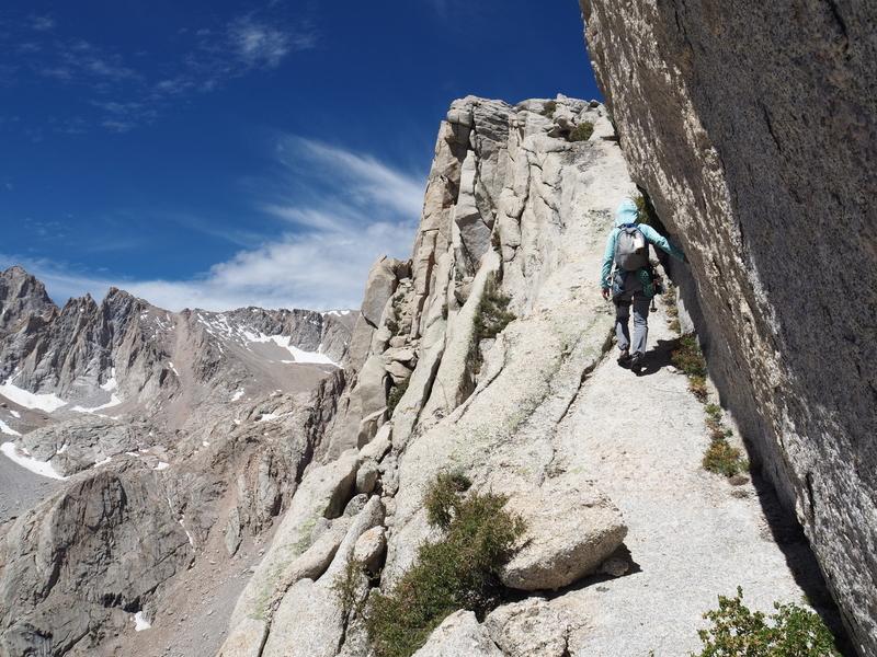 Final ramp to summit plateau