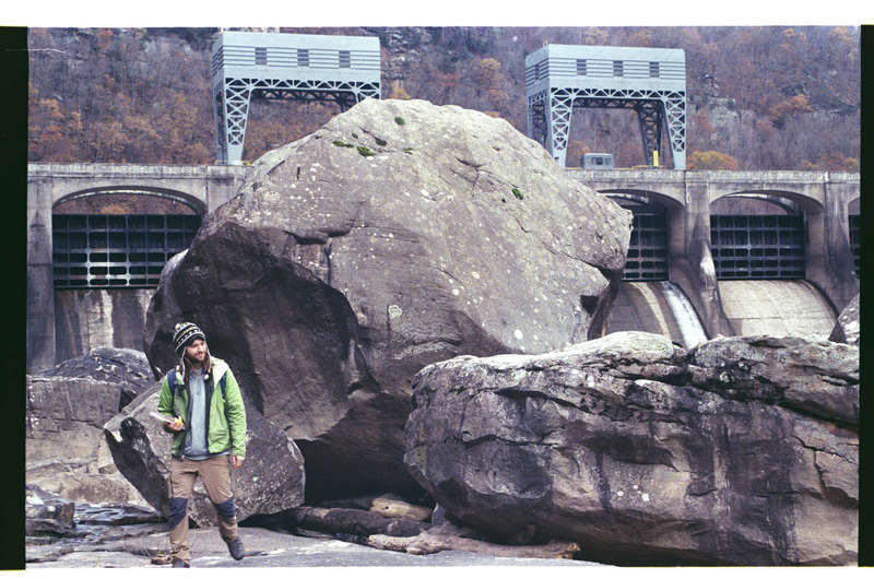 Our Ex Fearless Leader looking like a boss. The boulder is the true subject of the photo though.