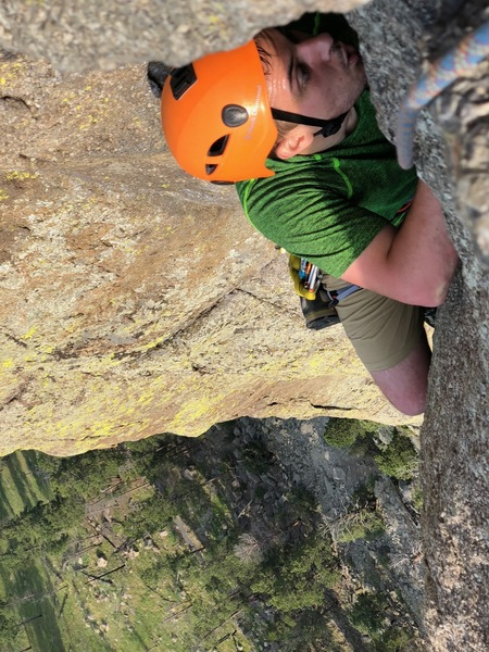 Top of the crux pitch