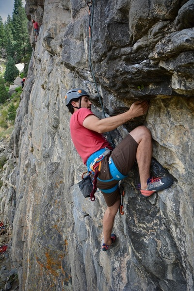 Dan Lebewitz about to enter the crux.
