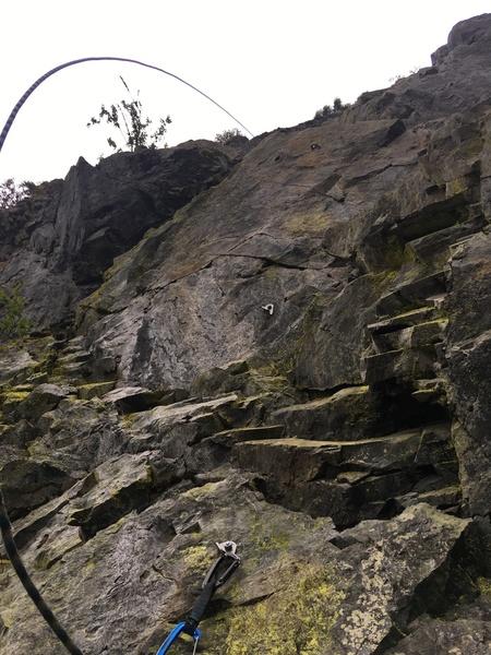 steep climbing on p5
