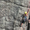 Climber on Classic Crack