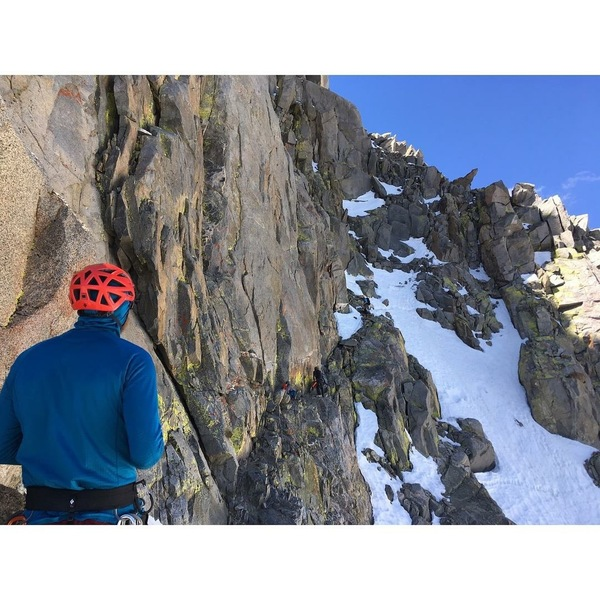 Looking across the 3rd class catwalk leading to the crux!