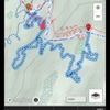 """Map of the """"Whipping Post"""" trail and access to the boulder"""