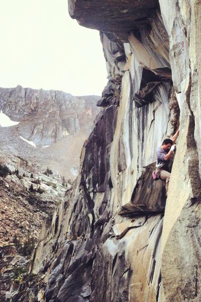 Matt Ciancio heading up Lizard King - Tioga cliff