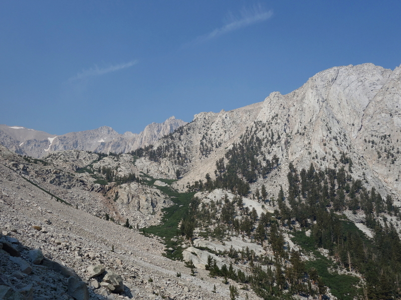 looking upcanyon toward LeConte and Mallory from the approach ramp