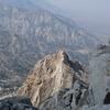 looking down the n ridge