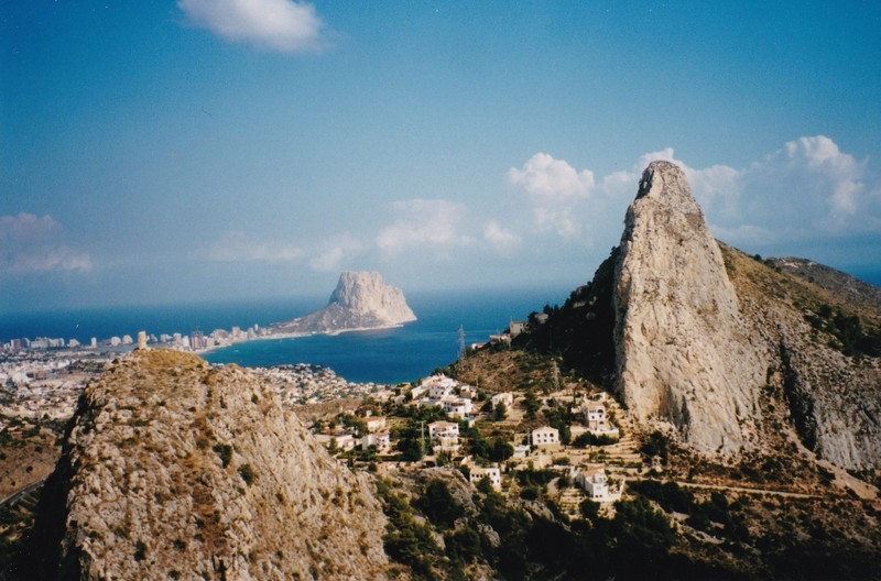 View from Mascarat summit to Calpe and the Penon