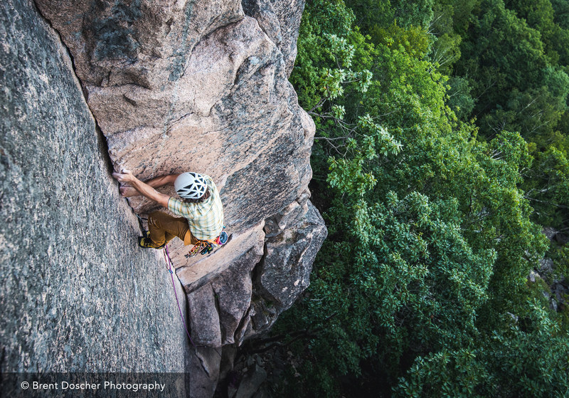 Jessie Briggs on a nuts only ascent of Old Town