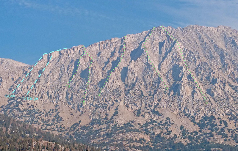 South + SouthEast ridges of Mt Starr from SE