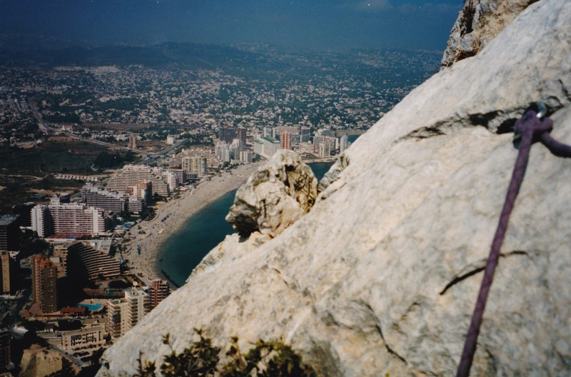 Looking at Calpe from high on the Penon