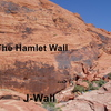 Approach View of Hamlet and J-Wall with climbers on both