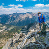 Brandon Prince climbing Sky Pilot 5.7 on Rearing Stallion Peak in the Pioneer Mountain Range Idaho