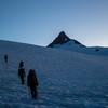 Our two teams halfway up the Sulfide Glacier.