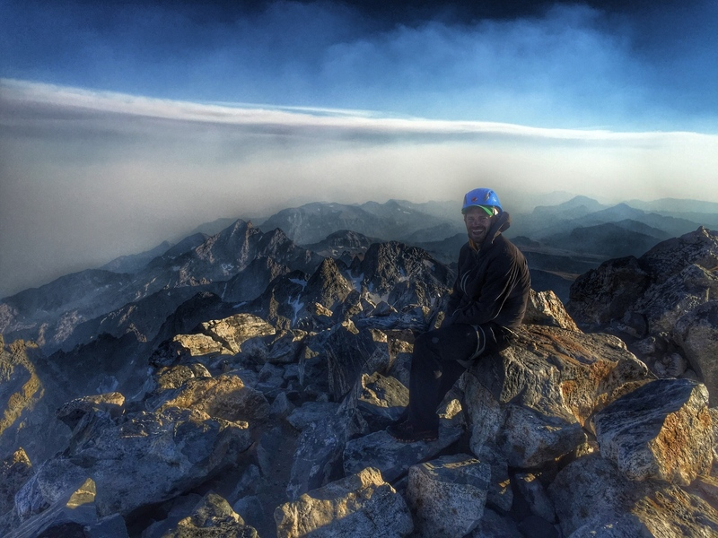Top of Grand Teton: Half way through Traverse
