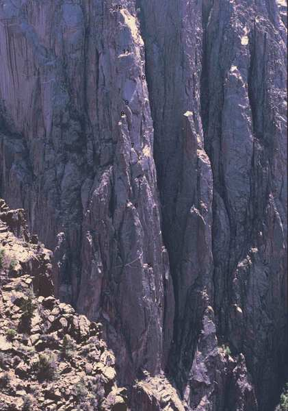 Pic taken from the Russian Arete looking back at the CV buttress.