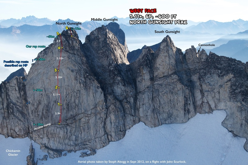 Route Overlay W Face of N Gunsight.