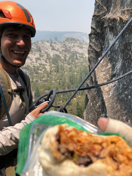 CA climbing: smoke, stoke and belay burritos