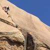 climbing tiny big crack