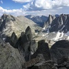 View of Mitchell Peak, Warbonnet, Warrior I, & Warrior II from Wolf's Head.