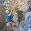 Crux roof. Climber: Chris White