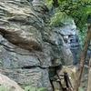 Base of the climb.