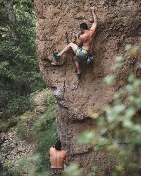 climbing at psychoactive wall