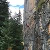 Below the ledge on UckFay UshBay.